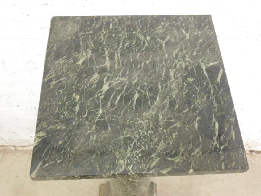 Marble & bronze pedestal - 7
