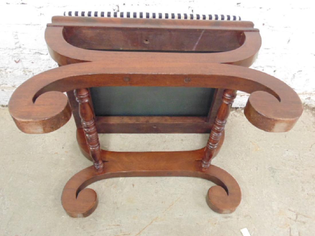 Pair Empire 19th century mahogany foot stools - 4