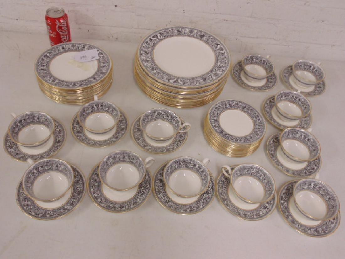 "Set of porcelain dinnerware by Wedgwood, ""Florentine"","