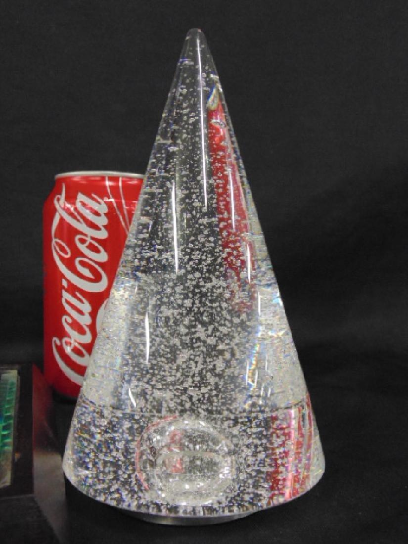 Crystal Baccarat obelisk & Steuben cone - 3