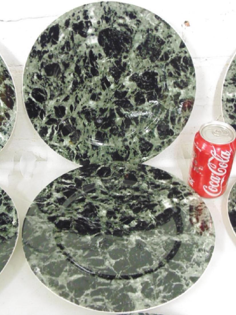 18 Villeroy & Boch dinner plates, faux marble - 3