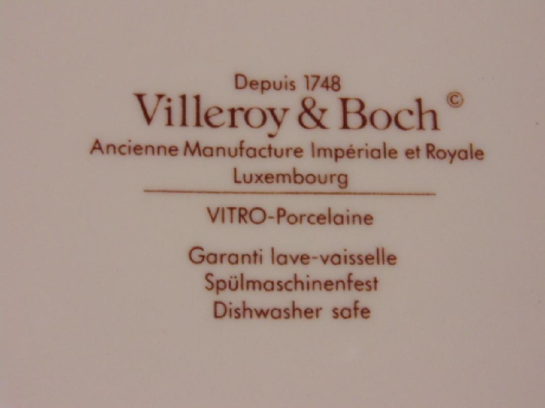 18 Villeroy & Boch dinner plates, faux marble - 6
