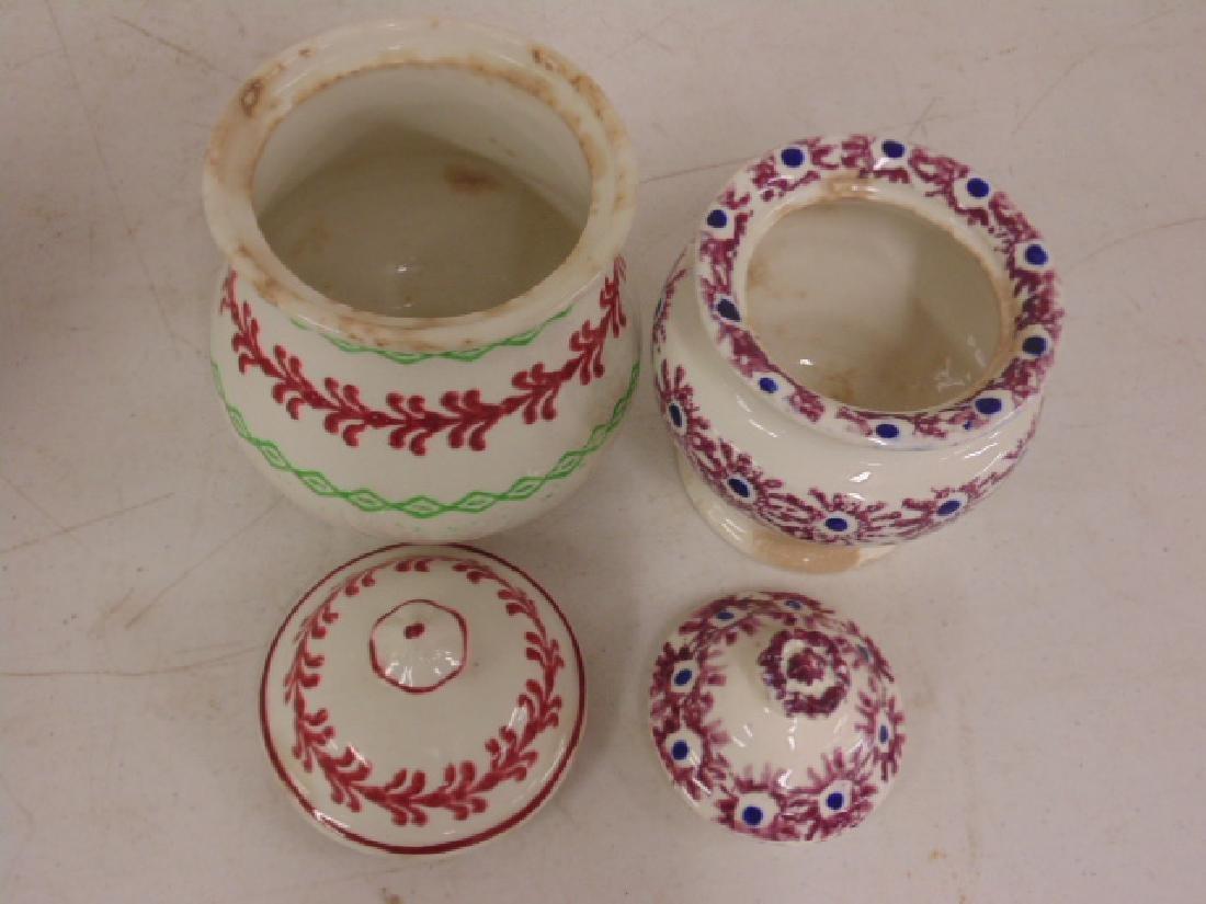 Lot stick spatter, tea pot, creamer - 3