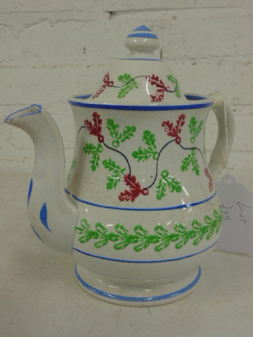 Lot stick spatter, tea pot, creamer - 5