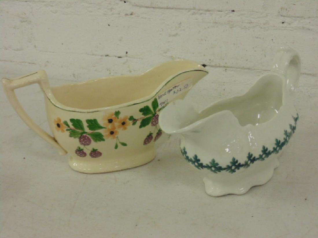 Stick spatter lot, gravy boats, creamers, pitchers - 4