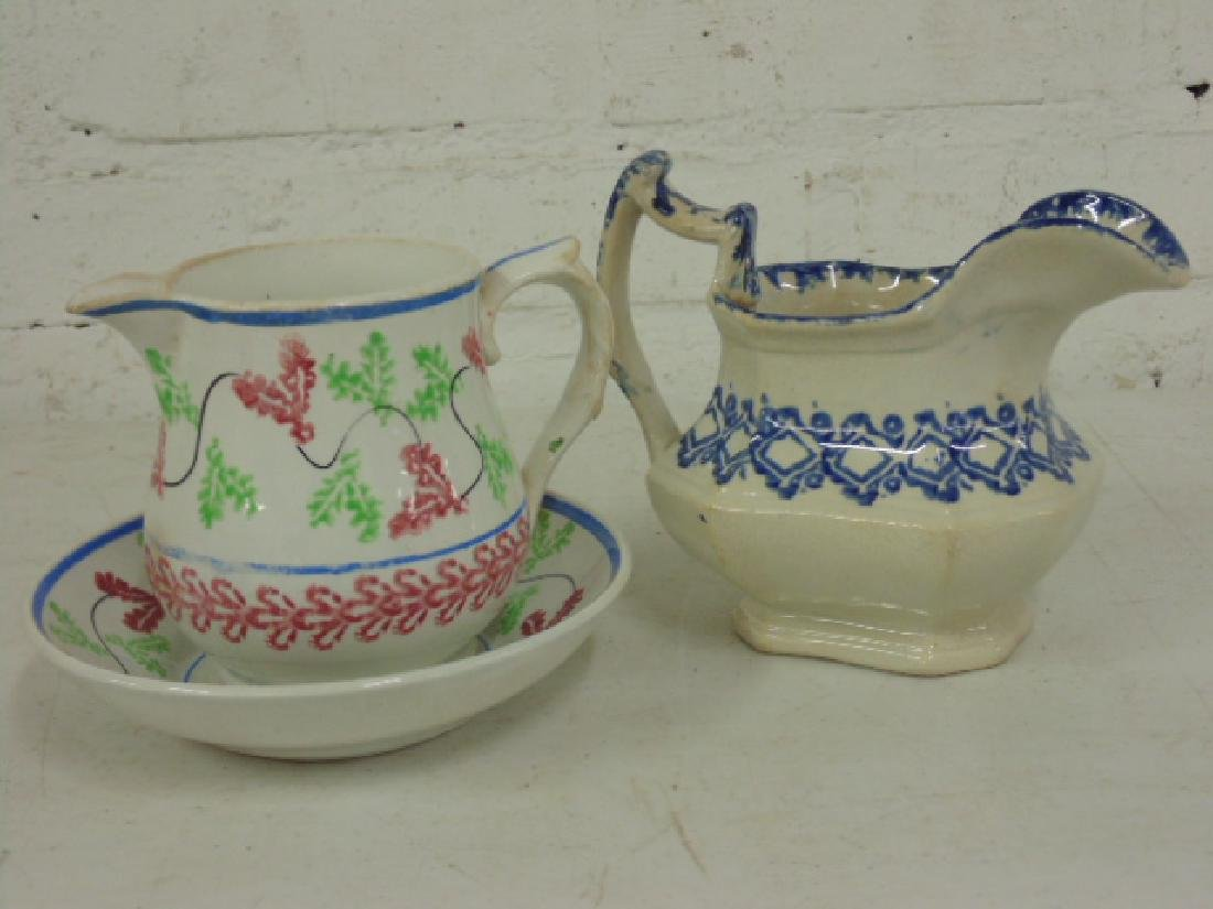Stick spatter lot, gravy boats, creamers, pitchers - 6