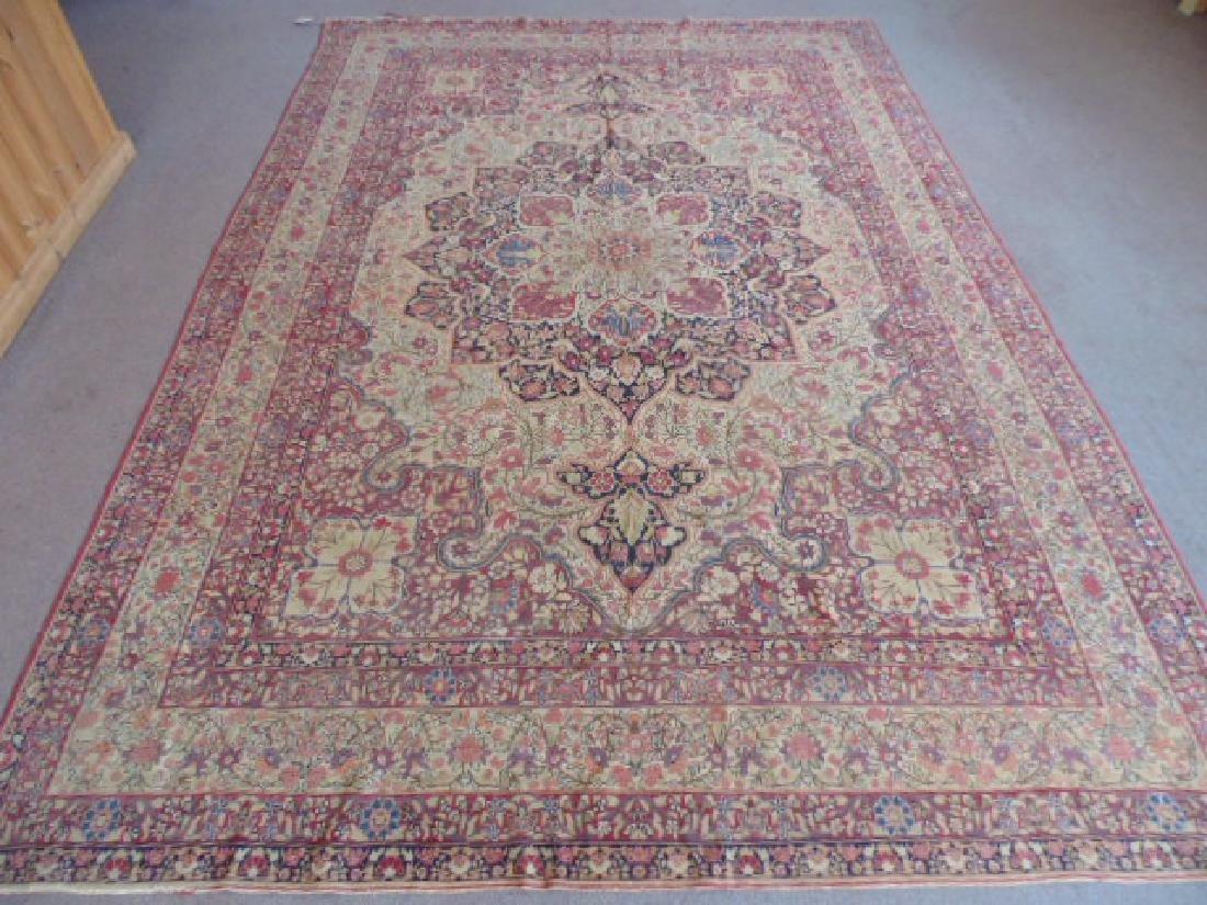 Persian room size carpet, center medallion