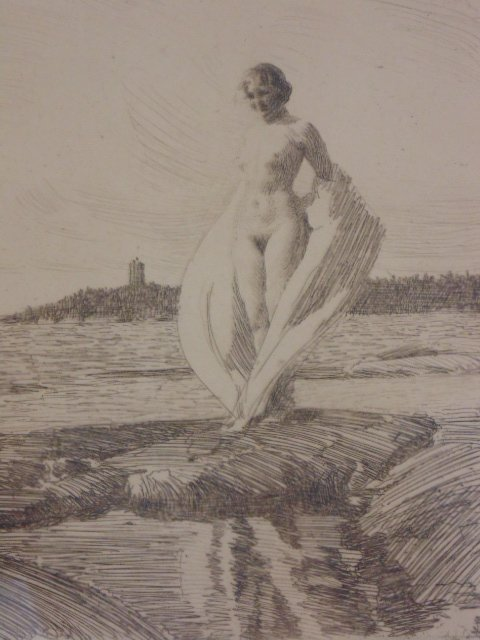 3 etchings, nudes, Anders Zorn - 3