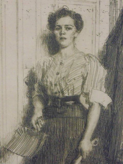 3 etchings, nudes, Anders Zorn - 5