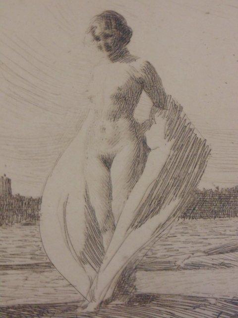 3 etchings, nudes, Anders Zorn - 6