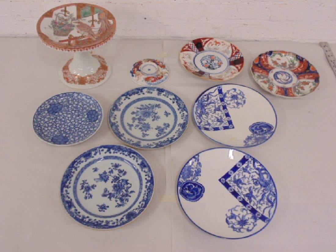 9 pieces Asian, Chinese porcelain