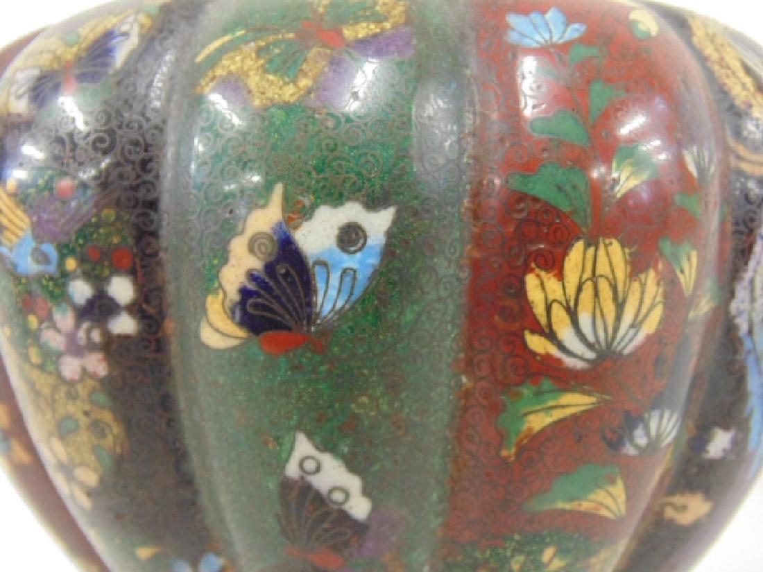 2 Asian cloisonne jars with lids - 4