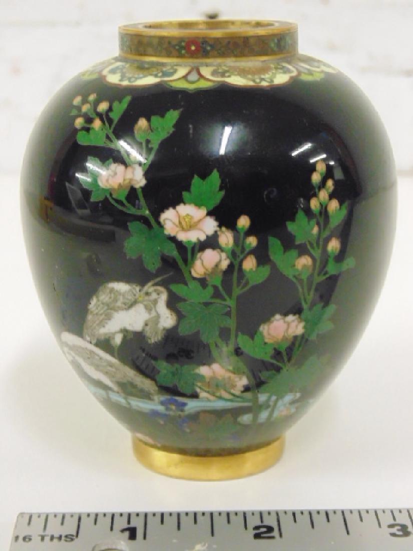 Fine quality Japanese cloisonne vase