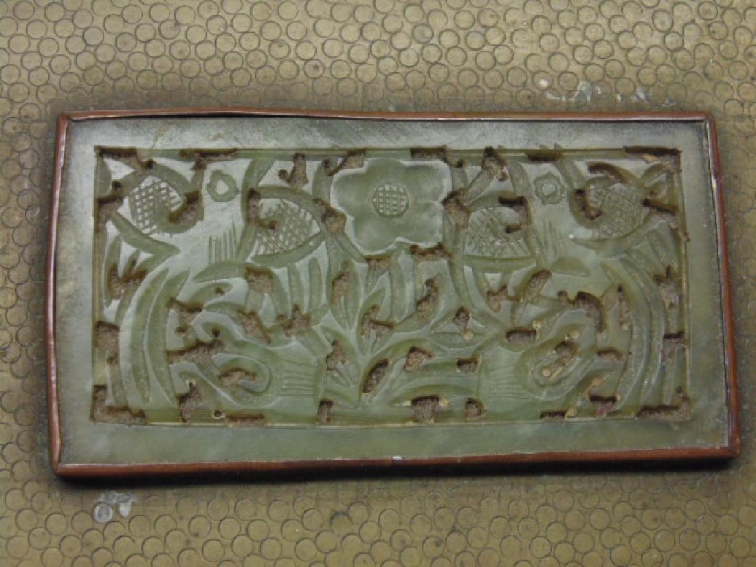 Brass Asian box, textured patina - 3