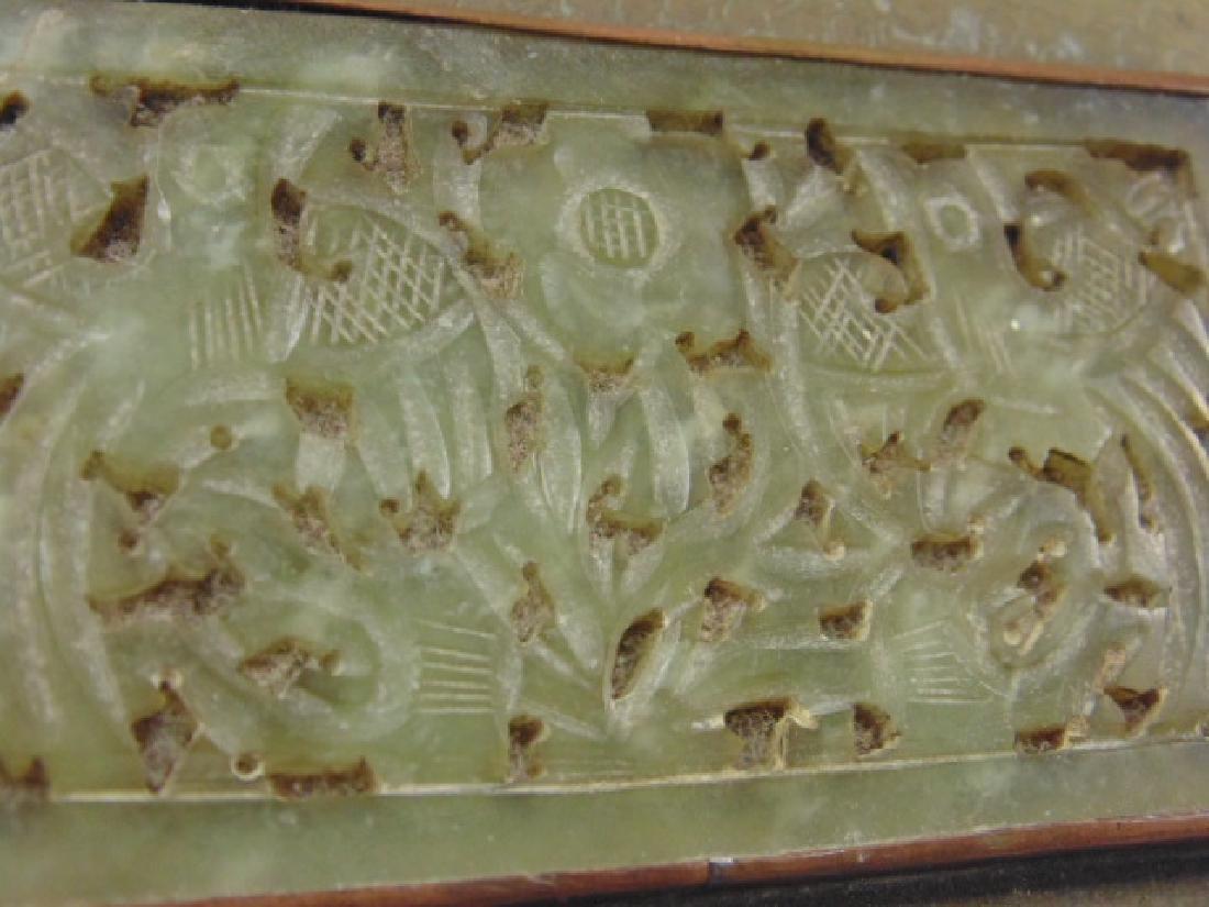 Brass Asian box, textured patina - 8