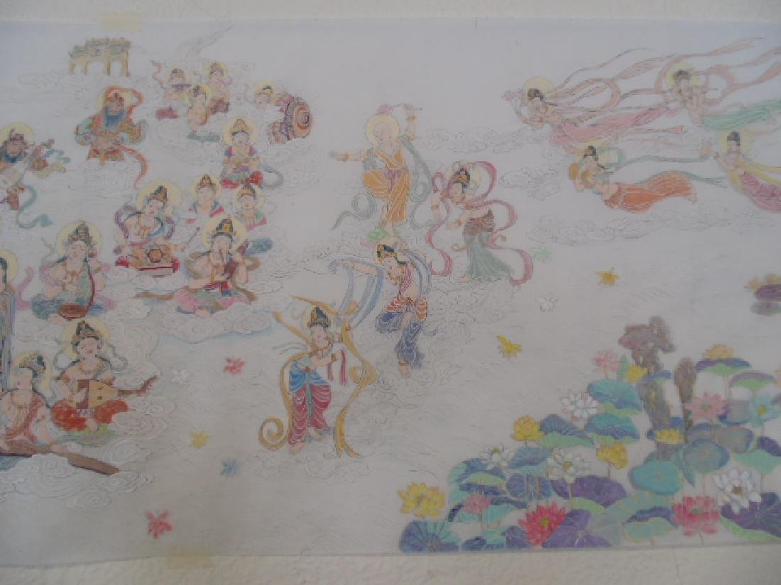 Tibet mural on paper, figures, Buddha's, deities - 5