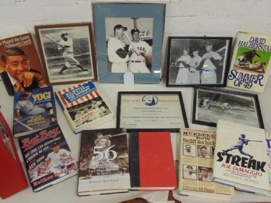 Lot NY Yankee items Dimaggio, Williams, Mantle