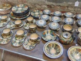 Rare San Zeno Italian Majolica Faience set