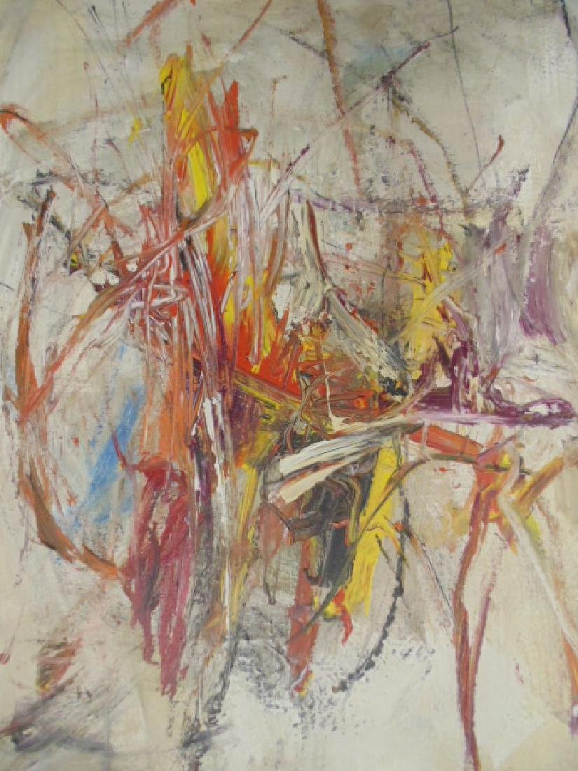 Painting, abstract in colors, signed Gino Hollander - 2