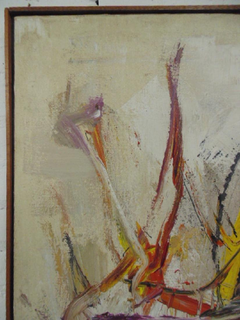 Painting, abstract in colors, signed Gino Hollander - 3