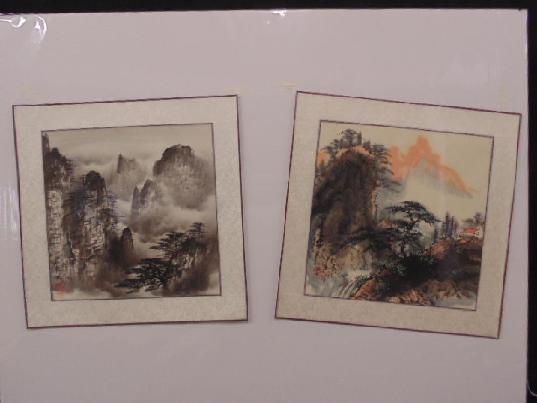 2 watercolors, Chinese landscapes, signed