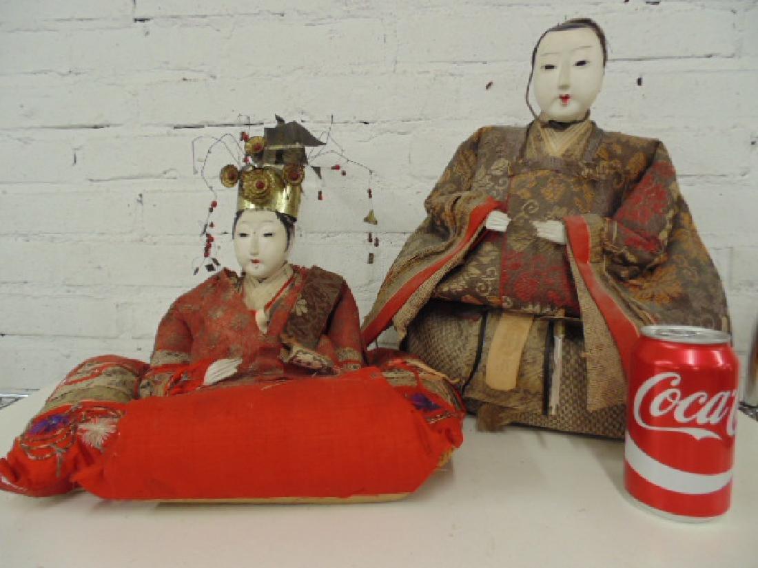 2 Japanese wedding figures in kimonos