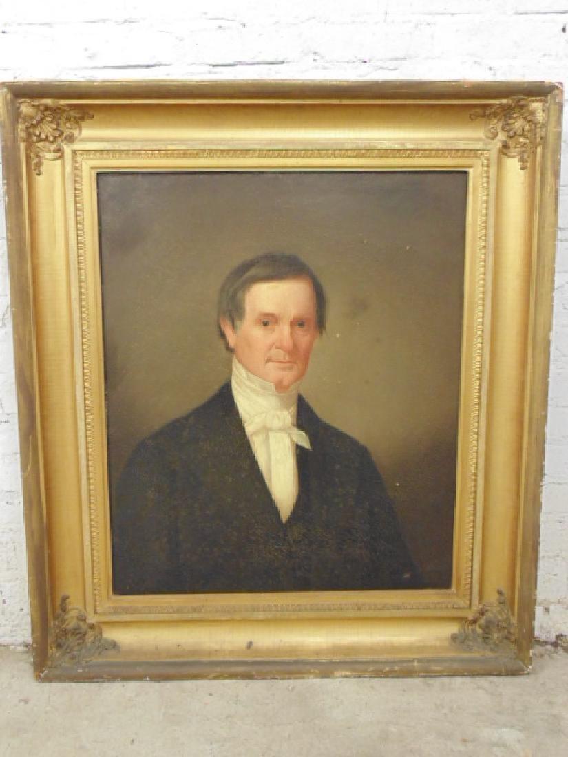 Painting,  portrait of Dr. John Barker,  various labels