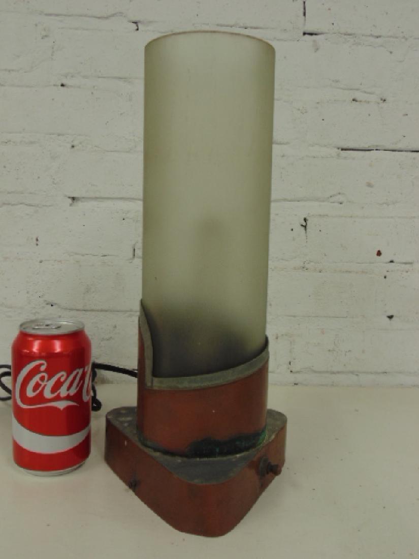Paul Lobel table lamp, copper and glass