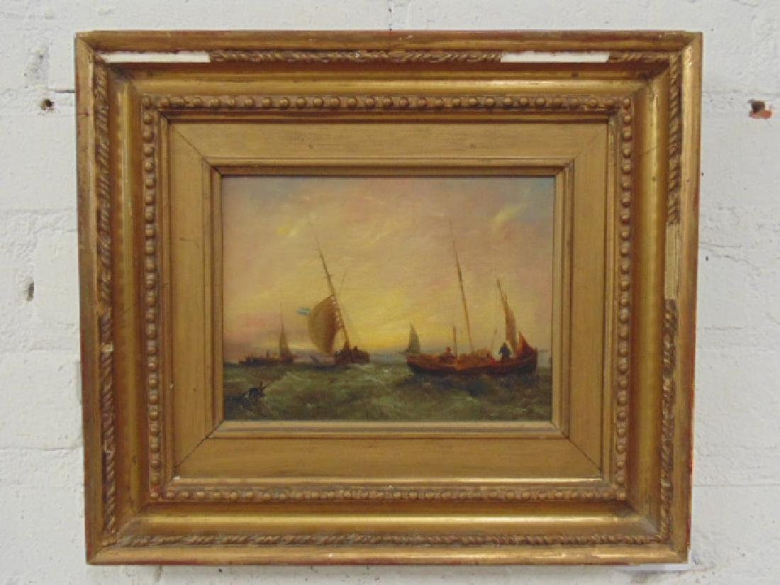 "Painting, ""Hartlepool"", fishing boats by William"