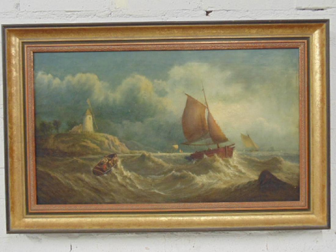 """Painting, """"Off Yorkshire Coast"""", by John Callow"""