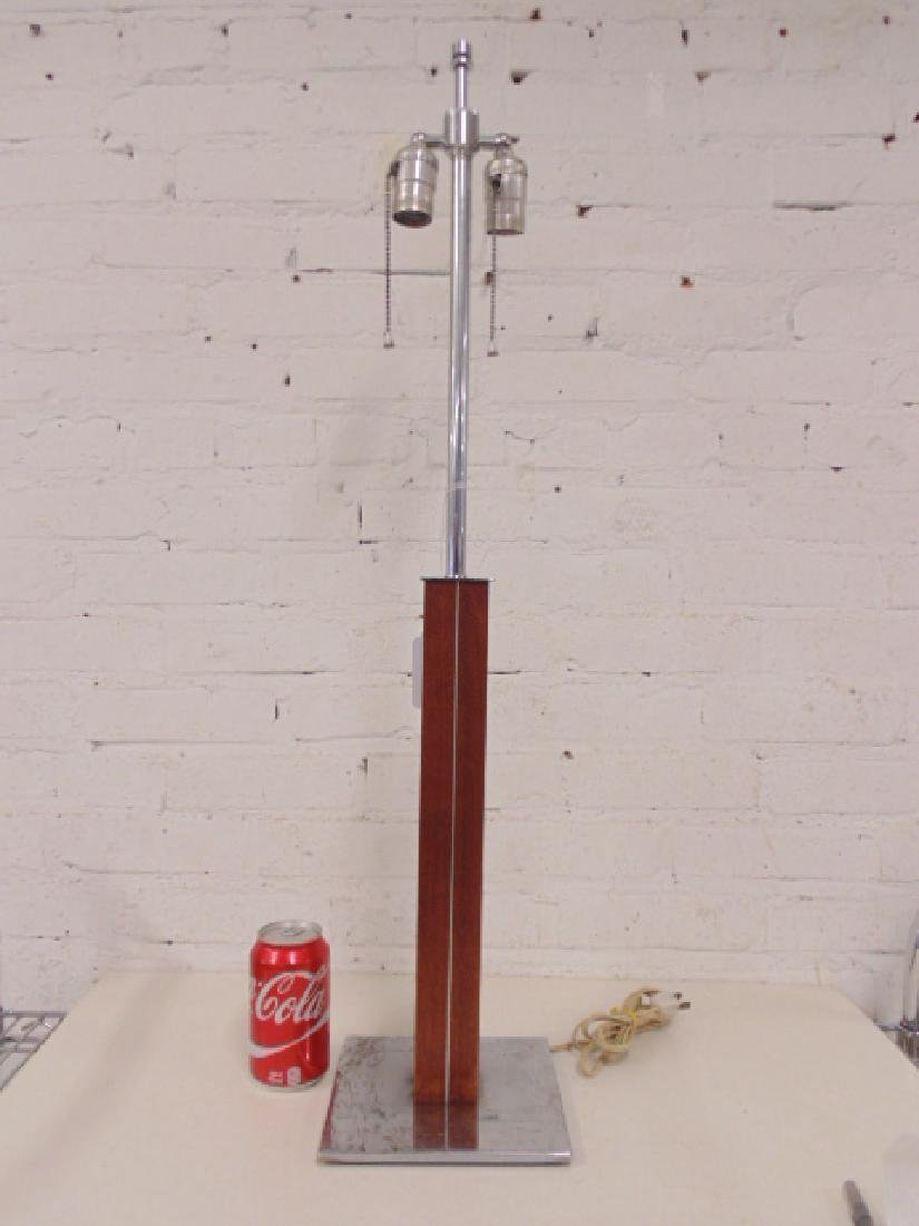 1960's walnut table lamp by Walter von Nessen