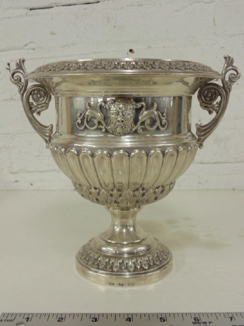 Ornate IItalian '925 silver wine cooler