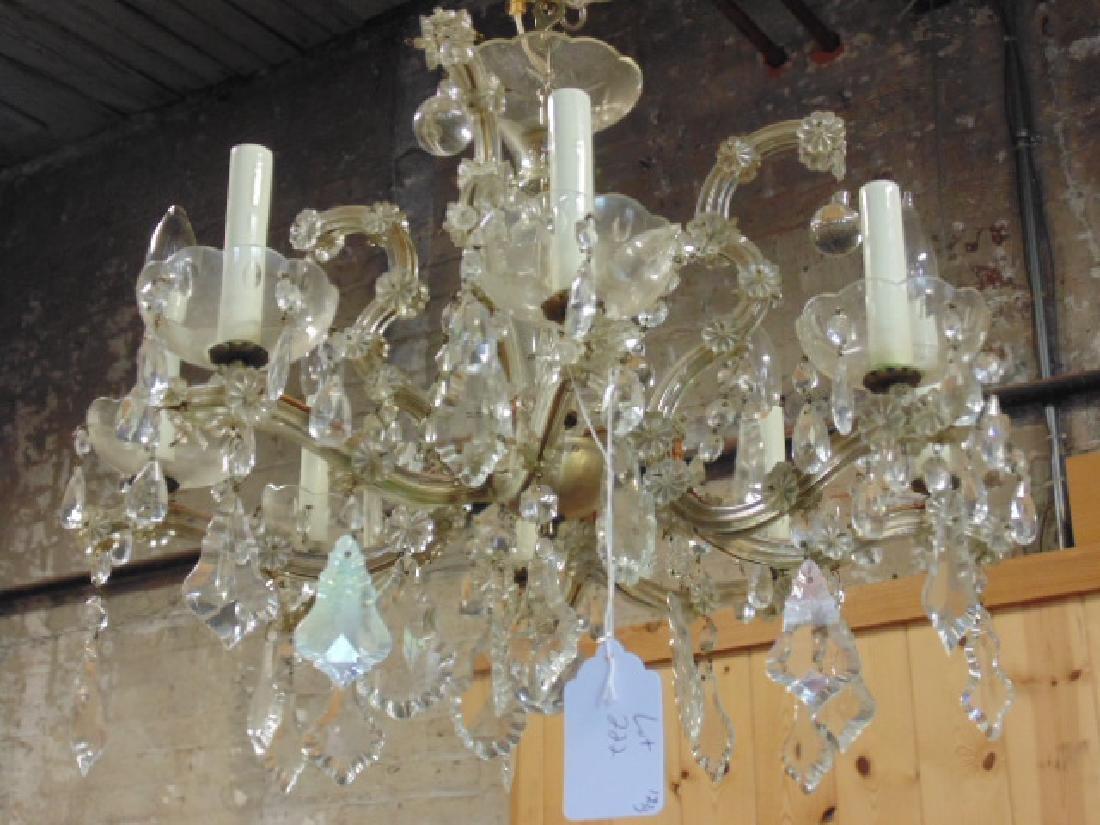 Venetian glass chandelier, 8 arms