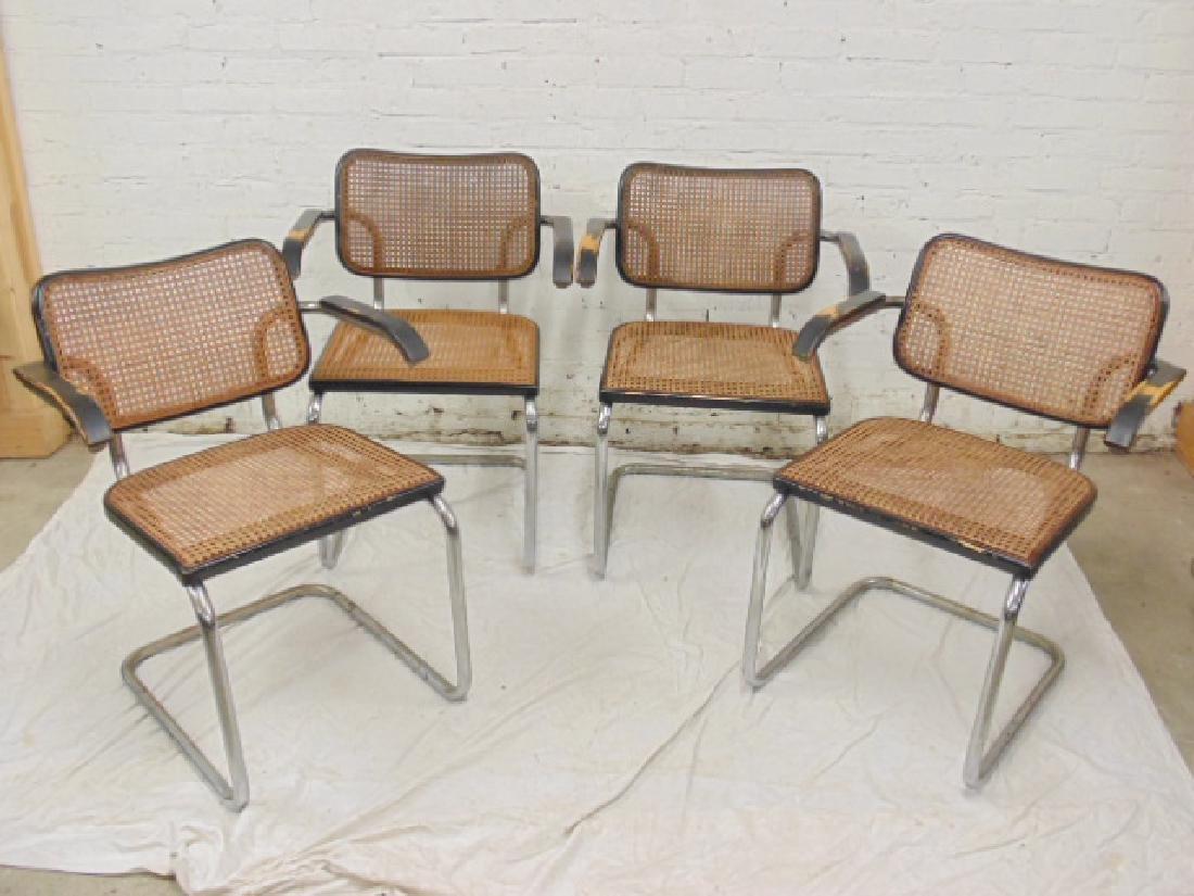4 Marcel Breuer Ceska arm chairs by Stendig