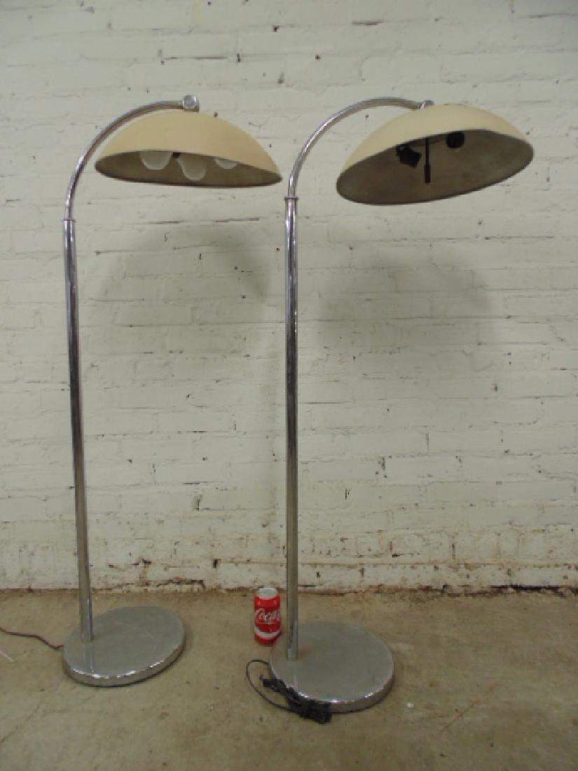 Pair Walter von Nessen art deco floor lamps