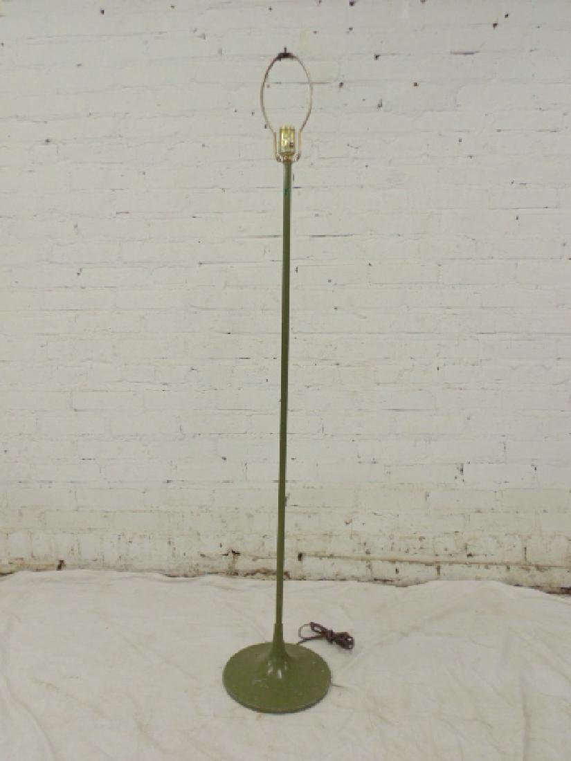 Laurel mid Century floor lamp, green paint