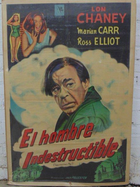 """Movie poster, """"El Hombre Indestructable"""""""