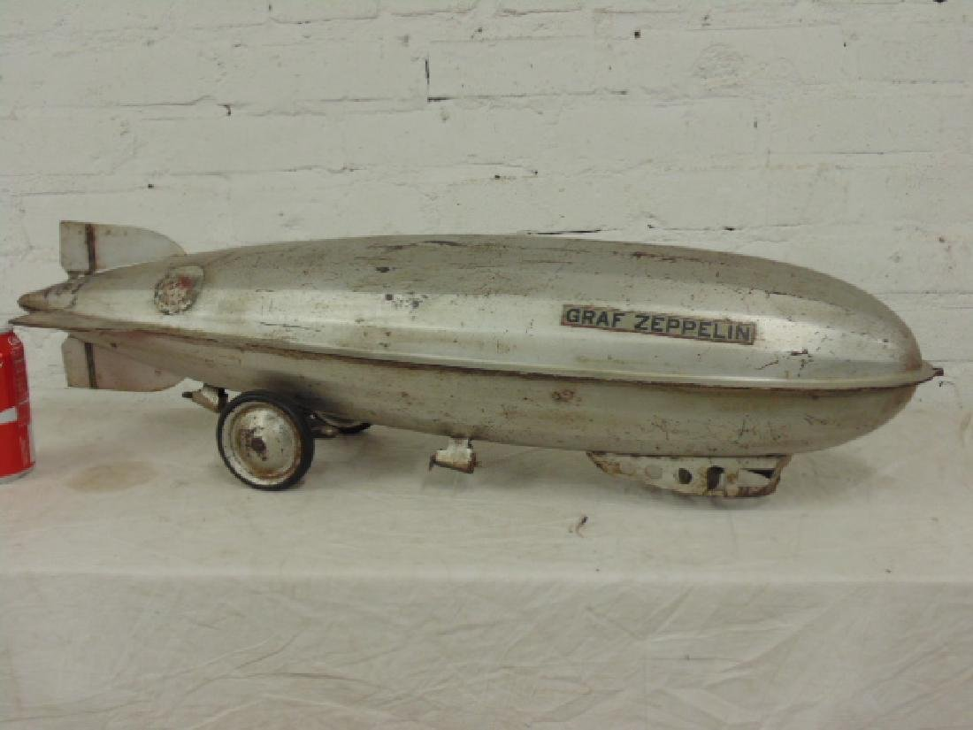 Vintage Steelcraft Graf Zeppelin Airship Pull Toy