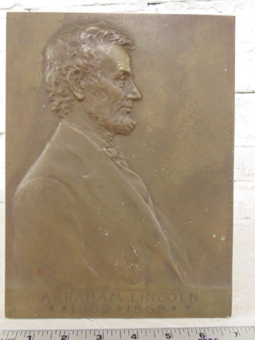 Victor David Brenner Bronze Plaque of Abraham Lincoln