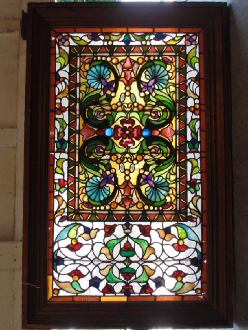 Leaded Glass Window Panel Floral