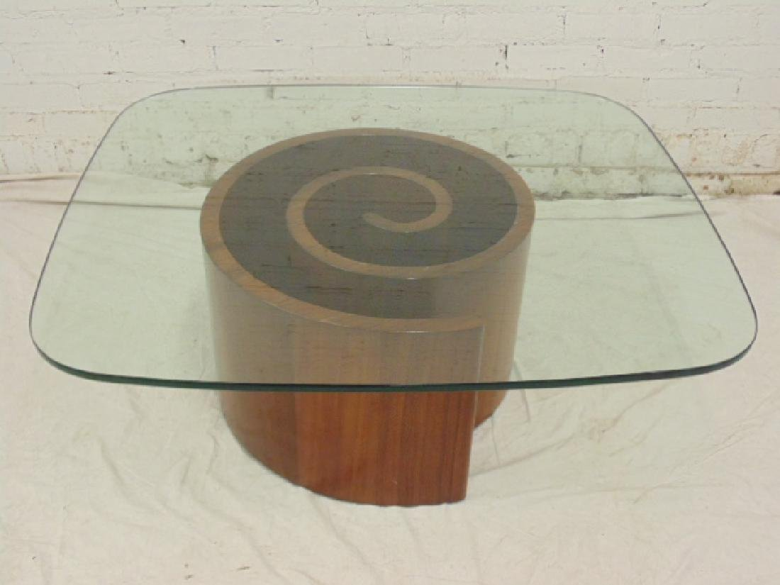 Mid Century Vladimir Kagan Design Snail Table