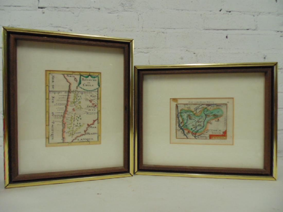 2 early maps, Chili & Auriacus Princip, by Ortelius.
