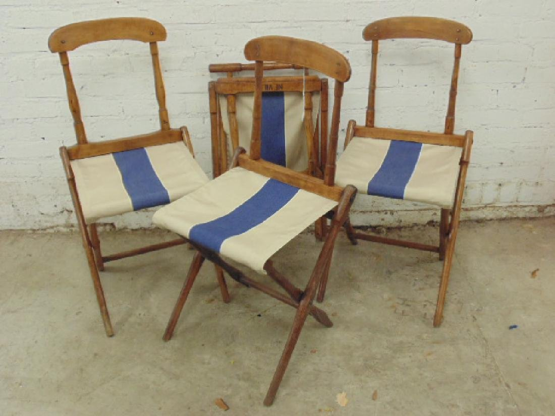 "folding deckchairs from steamship ""Neville"""