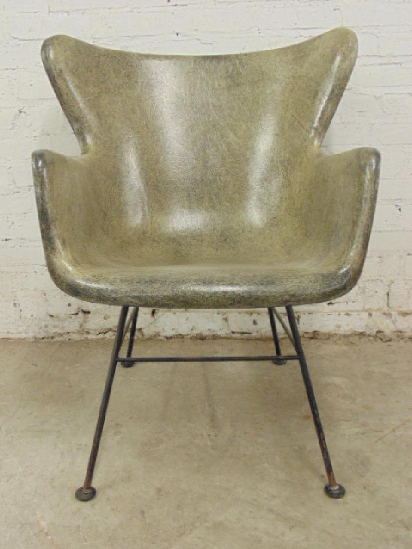 Lawrence Peabody fiberglass arm chair,