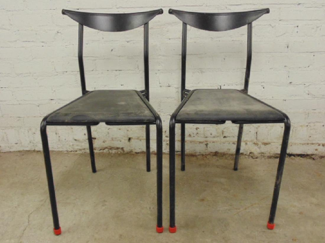 Pair Italian modern chairs Fly Line, Carre (vi),