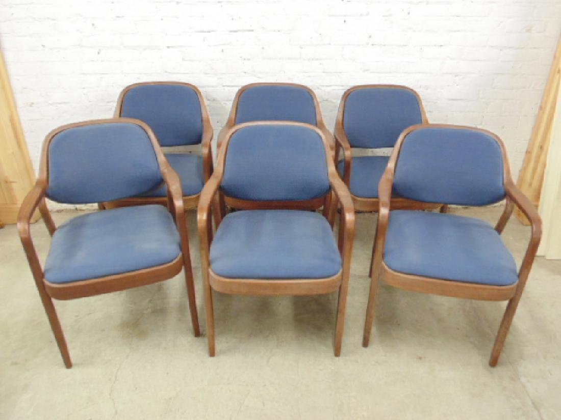 Set 6 armchairs by Knoll Associates