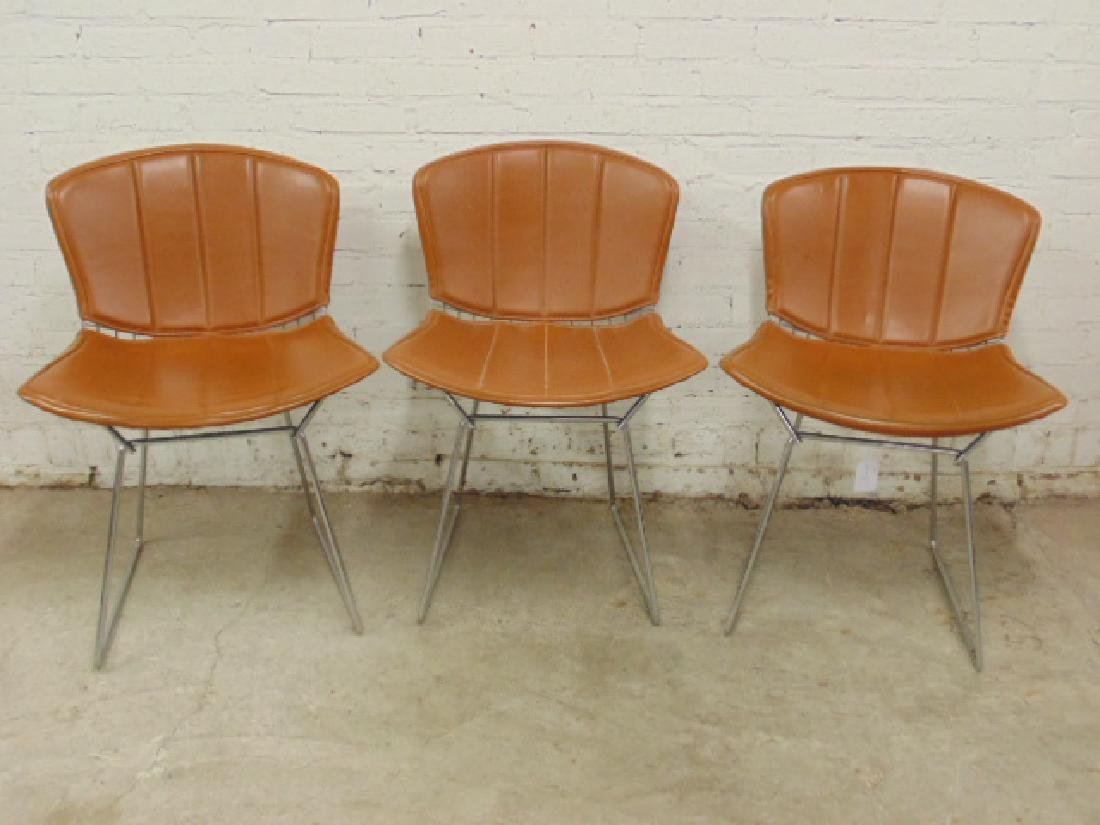 3 Bertoia for Knoll steel wire chairs
