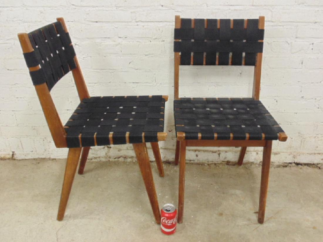 Pair Mel Smilow woven seat & back chairs - 2