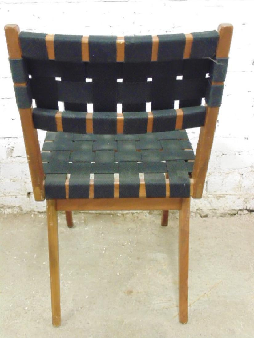 Pair Mel Smilow woven seat & back chairs - 4