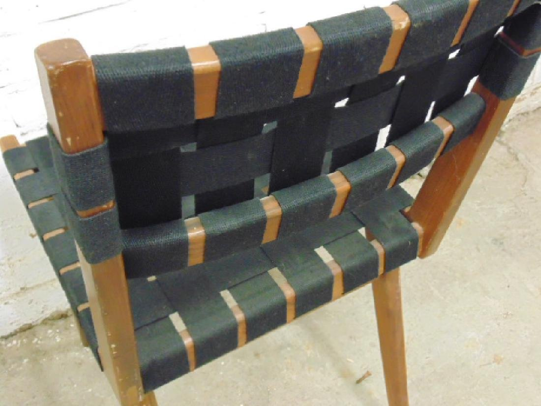 Pair Mel Smilow woven seat & back chairs - 5